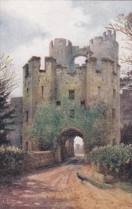 WARWICK, Warwickshire, England, 1900-1910's; Drawbridge, Warwick Castle