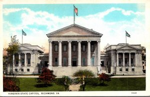 Virginia Richmond State Capitol Building Curteich