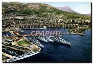 Postcard Modern Stadium Toulon Jean Bart and boats Charter School Football