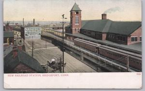 Bridgeport, Conn., New Railroad Station The McElroy Bros. Butter/Cold Storage-