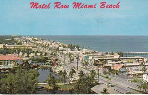 Aerial View, Along Famous Motel Row, Beach, Pier, MIAMI BEACH, Florida, PU-1963