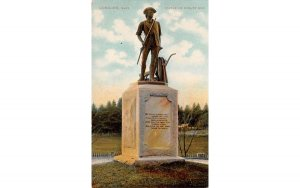 Statue of Minute Man Concord, Massachusetts Postcard