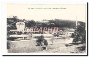 St. Leonard de Noblat Old Postcard Factory of Naqueteau