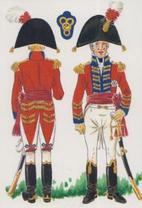 British General Major Turnbacks  Spanish Peninsula War Military Uniform Postcard