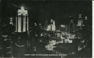 Night view Of Chicago's Business District