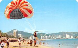 Mexico Old Vintage Antique Post Card Playa Hornos Acapulco Unused