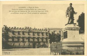Avignon, Place du Palais, early 1900s unused Postcard CPA