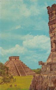 Mexico The Castillo From temple of the Jaguars Chichen Itza Yucatan