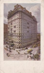 NEW YORK CITY, New York, 1900-1910's; Hotel Manhattan, Cable Cars
