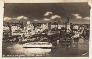 RP: SEATTLE , Washington, 1930-40s , Kalakala at night