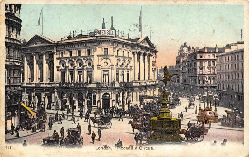 Vintage 1904 Postcard LONDON Piccadilly Circus