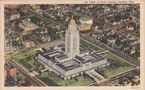 Air View Of State Capitol Lincoln Nebraska 1942
