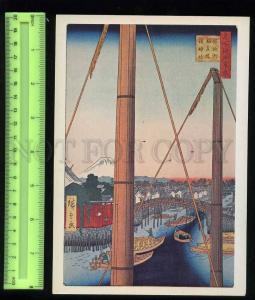 207029 JAPAN Ando Hiroshige Shinto Temple Old poster card