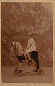 People and Children Photographed on Postcard, Old Vintage Antique Post Card C...
