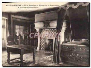 Old Postcard Azay le Rideau Roman Villa and Mansion of Romaniere