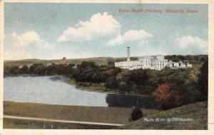 Waverly Iowa Sugar Factory Birdseye View Antique Postcard K47082