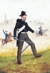 Postcard Carabinieri of Italy Horse Carabinier Campaign Uniform 1848-1870 #16-2