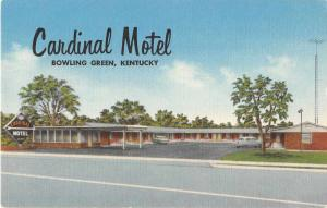 Bowling Green Kentucky Cardinal Motel Antique Postcard J52859