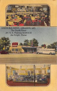 Buses Post Card Union Bus Depot Lebanon, Missouri, USA Unused