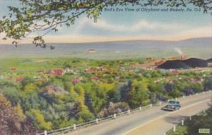 Pennsylvania Blakely Bird's Eye View Of Olyphant And Blakely