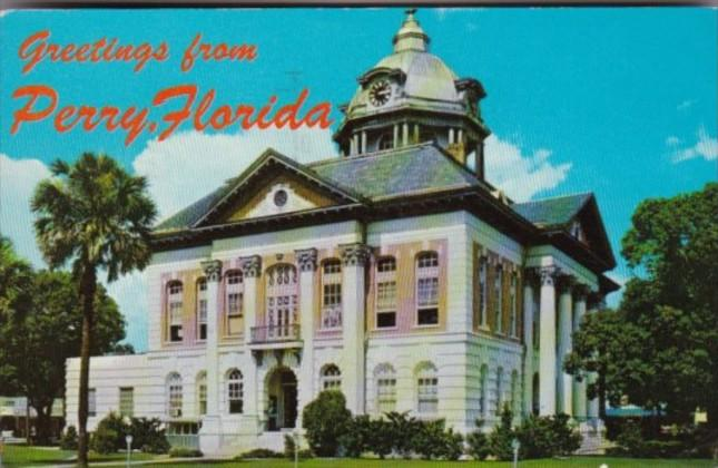 Florida Perry Taylor County Court House 1962
