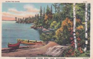 Michigan Greetings From Bear Lake 1946 Curteich