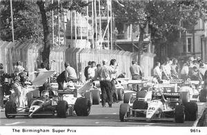 The Birmingham Super Prix 1988 Automobile Racing, Race Car Postcard Unused
