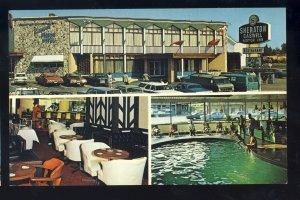 Sudbury, Ontario, Canada Postcard, Sheraton-Caswell Inn, Old Cars