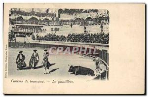 Old Postcard Bullfight Bullfight The puntillero