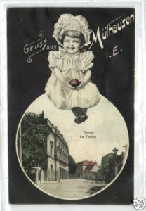 france, MÜLHAUSEN, Alsace, Theater Theatre 1906 Costume