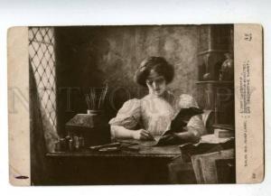 176480 BELLE Painter Art by Aline LAMY Vintage SALON 1910 PC