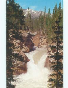 Unused Pre-1980 WATERFALL SCENE Jasper National Park Alberta AB E4191