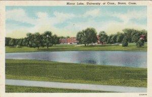 STORRS , Connecticut , 1910-20s ; Mirror Lake, University of Connecticut