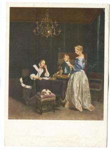 Gerard Terborch, Der Brief, unused Postcard