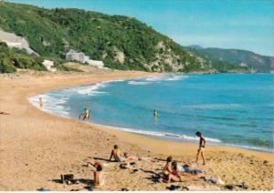 Greece Korfu Glyfada Beach Scene