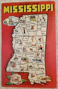 Chrome Postcard: Mississippi,  Greetings From Mississippi