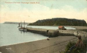 Parsboro Pier and Partridge Island NS, Nova Scotia, Canada - pm 1912 - DB