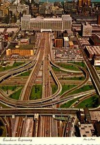 Illinois Chicago Aerial VIew Eisenhower Expressway