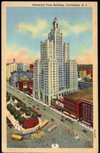 Rhode Island PROVIDENCE Industrial Trust Building - pm1944 - LINEN