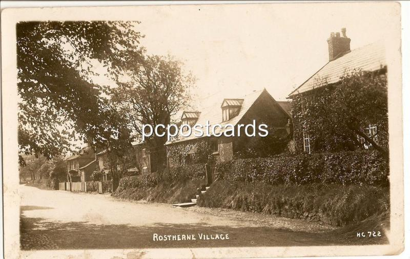 Rostherne Village Cheshire - Nice Old Real Photo Postcard numbered HC 722