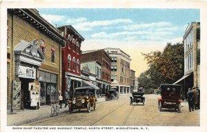 H58/ Middletown New York Postcard c1910 Show Shop Theatre Masonic 15