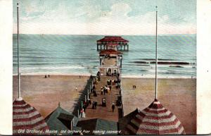 Maine Old Orchard Pier Looking Seeward 1908