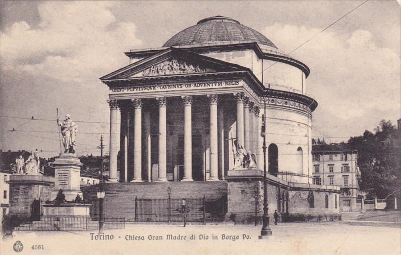 TORINO, Piemonte, Italy, 1900-1910's; Chiesa Gran Madre Di Dio In Borgo Po.