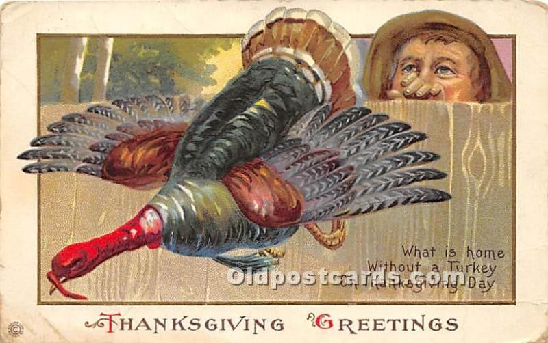Thanksgiving Removed stamp,  Writing on back