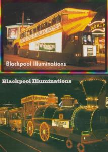 Blackpool Illuminations Estate Agents Advertising Fishermans Friend 2 Postcard s