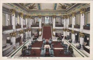 Virginia Richmond Lobby Jefferson Hotel