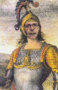 John Major As Joan Of Arc Comic Humour Prime Minister Postcard