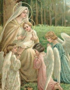C.1910-20s Religious Angels Mary & Baby Jesus P222