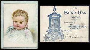 VICTORIAN TRADE CARD Baby Boy - Burr Oak Stove