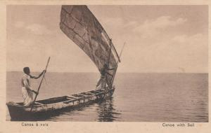 ANGOLA , Africa , 1900-10s ; Canoa with Sail